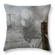 Winter Rooftops Throw Pillow