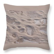 Winter Sand Art Throw Pillow