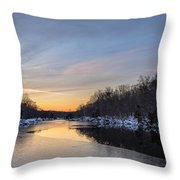 Winter Scape Throw Pillow