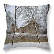 Old Monastery Throw Pillow