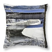 Winter Scene In Montgomery Throw Pillow
