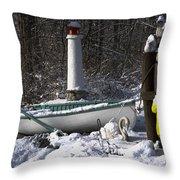 Winter Scene Michigan #1 Throw Pillow