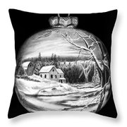 Winter Scene Ornament Throw Pillow