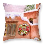 Winter Season Adobe Throw Pillow
