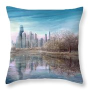 Winter Serenity Frost Throw Pillow by Doug Kreuger