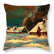 Winter Silence Throw Pillow