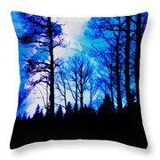 Winter Silhouettes - Ghost Eagle Throw Pillow