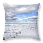 Winter Skaket Beach Throw Pillow