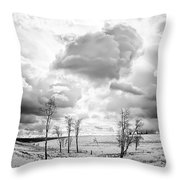 Winter Sky Drama Throw Pillow
