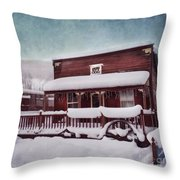 Winter Sleep Throw Pillow by Priska Wettstein