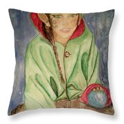 Winter Solstice Throw Pillow by Carrie Viscome Skinner