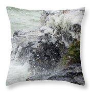 Winter Splash Throw Pillow