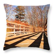 Winter Spring Crossover Throw Pillow