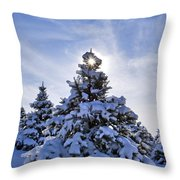 Winter Starburst - D008347 Throw Pillow
