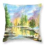 Winter Stillness Throw Pillow