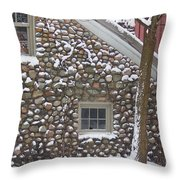 Winter Stone Pattern Throw Pillow