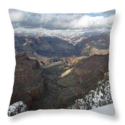 Winter Storm At The Grand Canyon Throw Pillow