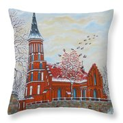Winter Sunday Throw Pillow