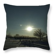 Winter Sunrise 2014 05 Throw Pillow