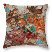 Winter Sunrise Abstract Painting Throw Pillow