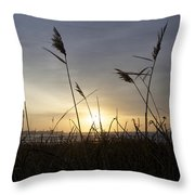 Winter Sunrise In Newport Ri Throw Pillow