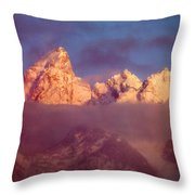 1m9333-winter Sunrise On Teton Range Throw Pillow