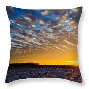 Winter Sunset 1 Throw Pillow
