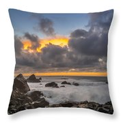 Winter Sunset At Patrick's Point Throw Pillow by Greg Nyquist