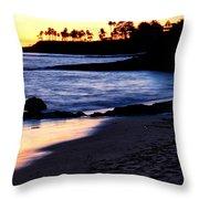 Winter Sunset In Laguna Beach II Throw Pillow