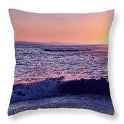 Winter Sunset In Laguna Beach IIi Throw Pillow