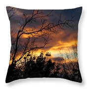 Winter Sunset In The Rogue Valley Throw Pillow