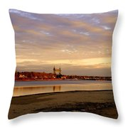 Winter Sunset  Throw Pillow