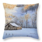 Winter Sunset Throw Pillow by Michelle Wiarda