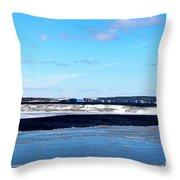 Winter Sunset On The Islands Throw Pillow