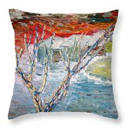 Winter Sunset Throw Pillow by Vadim Levin