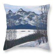 Winter Tetons Throw Pillow