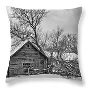 Winter Thoughts Monochrome Throw Pillow
