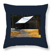 Winter Time At Carter Sheilds Place Throw Pillow