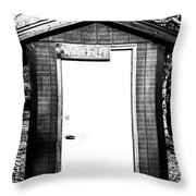 Winter Toilet Throw Pillow