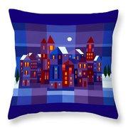 Winter Town Throw Pillow