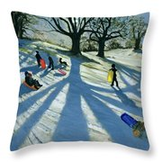 Winter Tree Throw Pillow by Andrew Macara