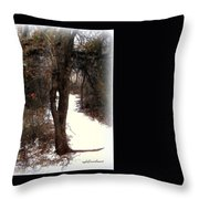 Tree With Ice Throw Pillow