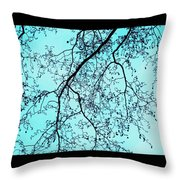 Winter Tree Throw Pillow by Cathy Jacobs