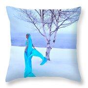 Winter Tree Empress Throw Pillow