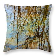 Winter Tree Reflections Throw Pillow