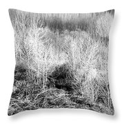 Winter Trees B And W 3 Throw Pillow