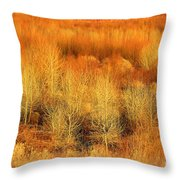 Winter Trees Color  7 Throw Pillow
