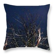 Winter Treetop Throw Pillow