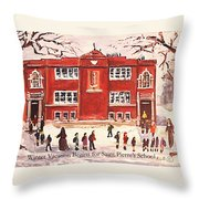 Winter Vacation Begins For Saint Pierre's School Throw Pillow