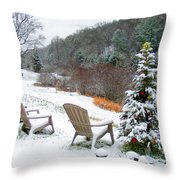 Winter Valley Chairs 2 Throw Pillow